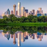Dallas Texas, USA horisont royaltyfri foto