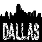 Dallas text with skyline Stock Photos