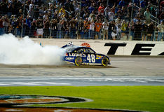 DALLAS, TX - 4 NOVEMBRE : Jimmy Johnson 48 fait un afte de burnnout Photos libres de droits