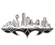 Dallas, TX linia horyzontu ilustracji