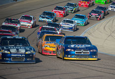 DALLAS, TX - NOVEMBER 04: Nascar Race restart Royalty Free Stock Photo