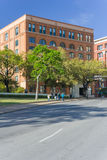 Dallas, TX/USA - circa April 2015: Sixth Floor Museum at Dealey Plaza where Kennedy was  shot Royalty Free Stock Photo