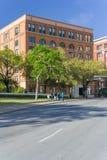 Dallas, TX/USA - circa aprile 2015: Sesto museo del pavimento alla plaza di Dealey in cui Kennedy era colpo fotografia stock libera da diritti