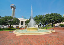 The Dallas Union train station, plaza, and tower Stock Image