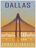 Dallas Vintage Poster Royalty Free Stock Images