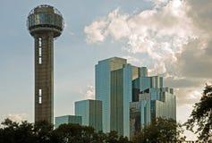 Dallas-Wiedervereinigungkontrollturm und -hotel Stockfoto
