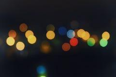 Dalle luci della città del fuoco Fotografie Stock