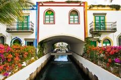 Dalle vie in Mogan, Gran Canaria Fotografie Stock