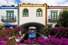 Dalle vie in Mogan, Gran Canaria Fotografia Stock Libera da Diritti