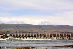 Dalles水坝 免版税图库摄影