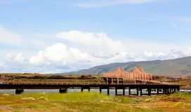 The Dalles Bridge royalty free stock image