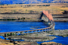 The Dalles Bridge stock image