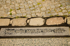 Dalles commémoratives de Berlin Wall Image stock