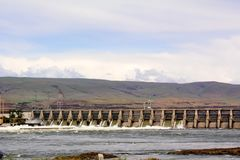 The Dalles Dam royalty free stock photography