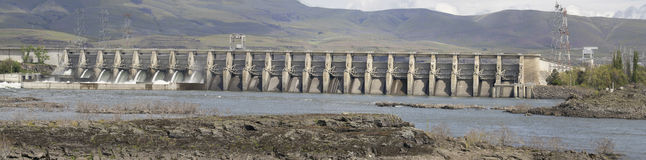 The Dalles Dam Along Columbia River Stock Photos