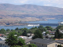 The Dalles Dam Royalty Free Stock Photo