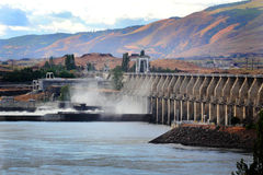 The Dalles Dam Hydro Power Royalty Free Stock Images