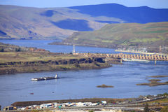 The Dalles dam & river, Oregon. Royalty Free Stock Image