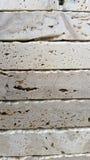 Dalles de marbre blanches empilées  Images stock