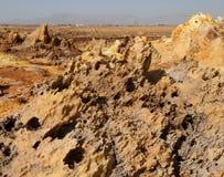 Dallol, Danakil消沉,埃塞俄比亚 地球的最热的地方 免版税库存图片
