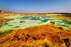 Dallol, κατάθλιψη Danakil, Αιθιοπία Η καυτότερη θέση στη γη Στοκ φωτογραφία με δικαίωμα ελεύθερης χρήσης