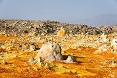 Dallol, κατάθλιψη Danakil, Αιθιοπία Η καυτότερη θέση στη γη Στοκ φωτογραφίες με δικαίωμα ελεύθερης χρήσης
