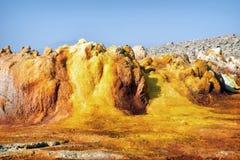 Dallol, депрессия Danakil, Эфиопия Самое горячее место на земле Стоковые Изображения RF
