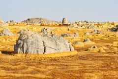 Dallol, депрессия Danakil, Эфиопия Самое горячее место на земле Стоковое Изображение RF