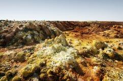 Dallol, Danakil depresja, Etiopia Gorący miejsce na ziemi Obraz Royalty Free