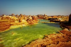 Dallol, Danakil Depression, Ethiopia. The hottest place on earth. Taken in 2015 Stock Image