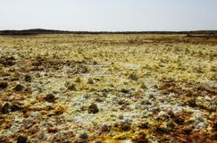 Dallol, Danakil Depression, Ethiopia. The hottest place on earth royalty free stock image