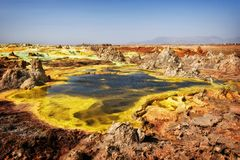 Dallol, Danakil Depression, Ethiopia. The hottest place on earth royalty free stock photos