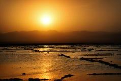 Dallol Danakil fördjupning, Etiopien Det varmmaste stället på jord Arkivbilder