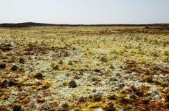 Dallol Danakil fördjupning, Etiopien Det varmmaste stället på jord Royaltyfri Bild