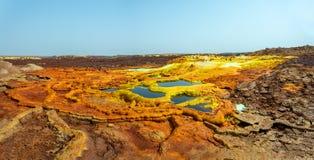 Dallol, Etiopia Danakil depresja zdjęcie stock