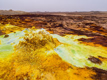 Dallol i den Danakil fördjupningen, Etiopien Arkivfoton