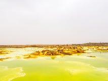 Dallol i den Danakil fördjupningen, Etiopien Arkivfoto
