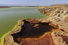 Dallol vulkanDanakil fördjupning Etiopien Royaltyfria Bilder
