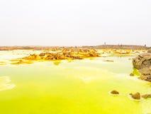 Dallol w Danakil depresji, Etiopia Zdjęcia Royalty Free