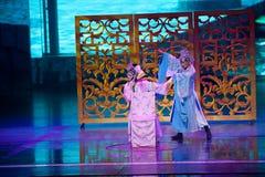 Dally med pionen--Den historiska magiska magin för stilsång- och dansdrama - Gan Po Arkivfoto