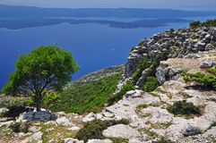 Dalmatia coast landscape Stock Photos