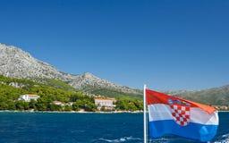Dalmatia Landscape. Peljesac peninsula, second largest in Croatia (358 km2), located in south Dalmatia in Dubrovnik region Stock Photos