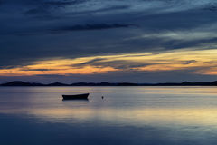 Dalmatia sunset in bay Stock Photo