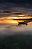 Dalmatia sunset in bay Stock Photography