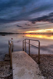 Dalmatia sunset in bay Royalty Free Stock Photo