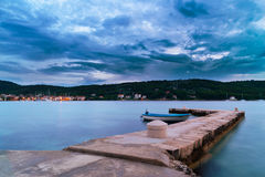 Dalmatia sunset in bay Royalty Free Stock Photography