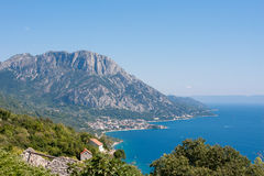 Dalmatian city Gradac Royalty Free Stock Photos