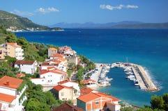 Gorgeous azure scenic view on podgora in croatia Stock Photos