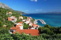 Gorgeous azure scenic view on podgora in croatia Royalty Free Stock Photo