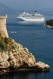 Dalmatian coast. Bartizan. Dubrovnik. Croatia Royalty Free Stock Images